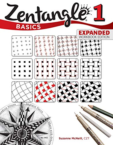 Price comparison product image Zentangle Basics,  Expanded Workbook Edition: A Creative Art Form Where All You Need is Paper,  Pencil,  & Pen (Design Originals) 25 Original Tangles,  Beginner-Friendly Practice Exercises,  & Techniques