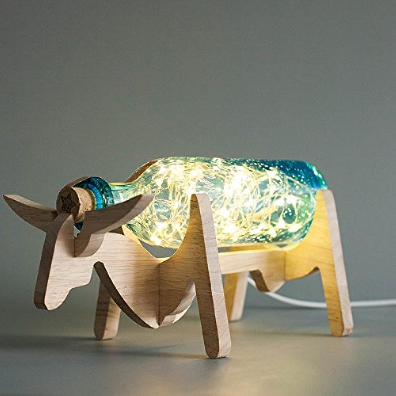 Yu-k Massivholz Lampen, Meer blauer Schalter B071CS1HLC | Smart