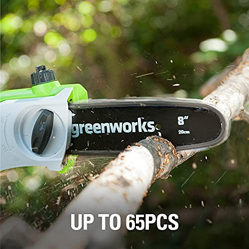 Greenworks 40V 8-Inch Cordless Pole Saw, 2Ah Battery and Charger Included, 20672