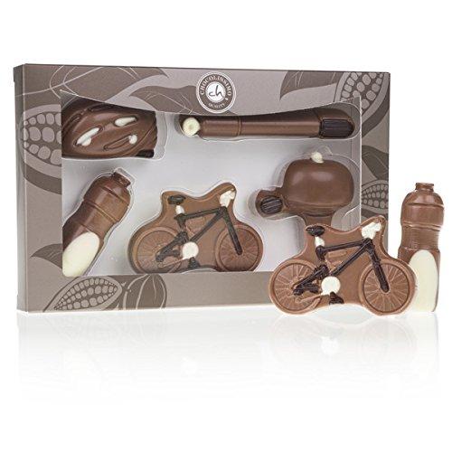Schokoladen Fahrräder 5 Figuren aus Vollmilchschokolade | lustige Geschenkidee | Fahrrad Fan | Fahrrad aus Schokolade | Geburtstagsgeschenk | Kinder | Erwachsene | Mann | Frau