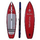 NgMik Tabla De Surf Inflable Stand Up Paddle Board Inflable 15 Cm De Grueso Los 81CM Ancho Kit For Principiantes | con Todos Los Accesorios Estable (Color : Red, Size : 305x81x15cm)