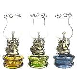 Purismo stile di kerosene Olio lampada lanterna di set di 3...