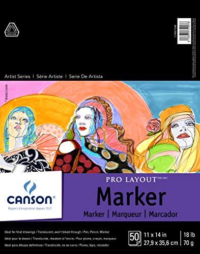 Canson Artist Series Pro Layout Bloc para Marcador, 0, 0, 11' x 14' (28 cm x 35 cm), 1