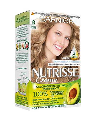 Garnier Nutrisse Creme coloración permanente con mascarilla nutritiva de cuatro aceites -...