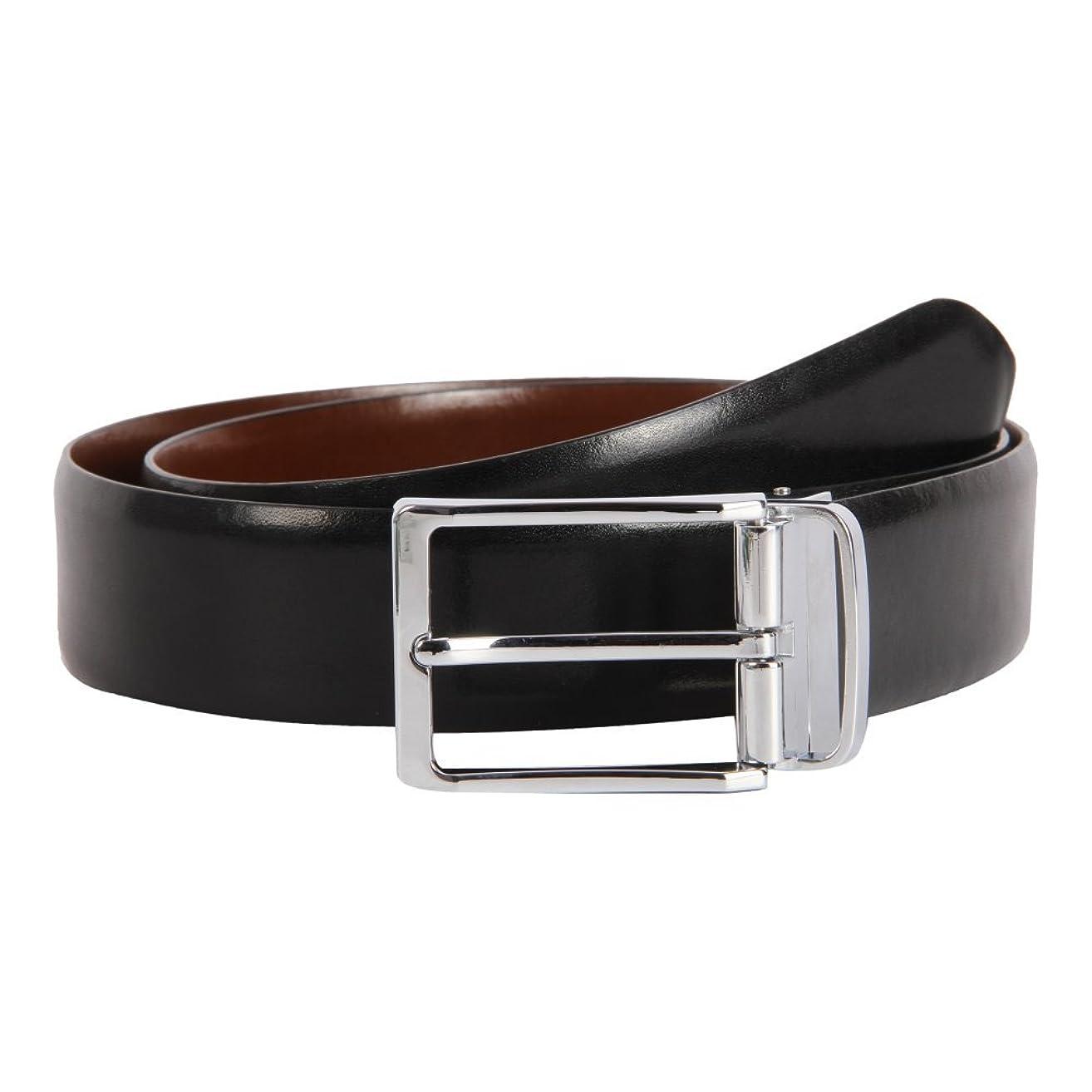 Affilare Men's Genuine Italian Leather Dress Belt Black Brown Reversible 12RB562
