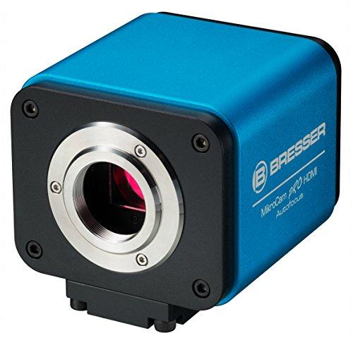 Bresser MikroCam PRO HDMI Autofocus Mikroskopkamera Full HD mit USB Maus, WiFi-Funktion, 1920x1080 Px Auflösung, leistungsstarkem Sony CMOS Sensor und professioneller Software