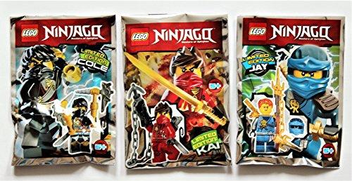 Lego Ninjago Movie 2017 - Set limitierte Figuren Jay + Cole + Kai