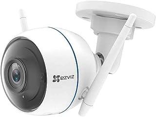 EZVIZ ezTube 1080p Cámara de Seguridad WiFi Defensa Activa Luz Estroboscópica y Sirena IP66 Visión Nocturna Audio Bidireccional Servicio de Nube Compatible Con Alexa Google Home