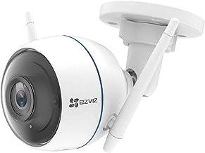 EZVIZ ezTube 1080p Cámara de Seguridad, WiFi, Defensa Activa, Luz Estroboscópica y Sirena, IP66, Visión Nocturna, Audio Bidireccional, Servicio de Nube, Compatible Con Alexa, Google Home
