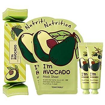 TONYMOLY Sheet Mask with Hand Cream Box Set I m Avocado