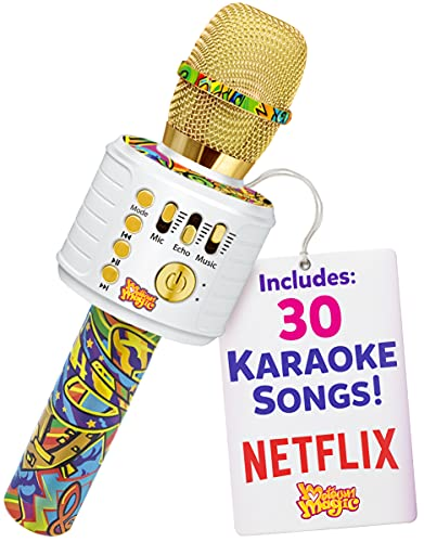 Move2Play Bluetooth Karaoke Microphone Perfect Birthday Gifts for Kids, Toy for 4 5 6 7 8 year old Girls and Boys, Graffiti (B07TTKGZC3)