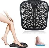 EMS Masajeador de pies eléctrico, Pulsos de Baja Frecuencia Estimulación Muscular Eléctrica, Cojín de Masaje de Pies Fisioterapia Inteligente para Mejorar la Circulación Sanguínea