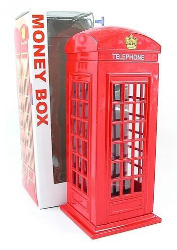 London Souvenir Druckgußmetall mit Kunststoffteilen Red Telephone Box Money Box