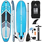 Leader Accessories 10'6' Blue Inflatable Stand Up Board with Fins (6'...