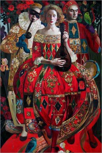 Posterlounge Stampa su PVC 60 x 90 cm: Dancer di Olga Suvorova
