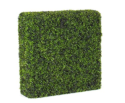 kunstpflanzen-discount.com Künstliche Buchshecke mit 80x98x22cm und UV beständigen Blättern