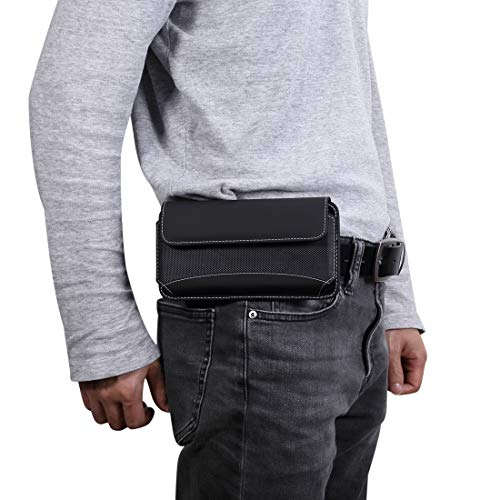 KIOKIOIPO-N Fashion Men Universal-Oxford-Tuch-bewegliche Handy-Hüfttasche Ledertasche for iPhone XS Max/Huawei Mate-20/6,3 Zoll oder unter Smartphones