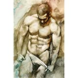 Muscular Naked Man Jigsaw Puzzle for Adult 1000 Pieces,Intellectual Development Art Educational Gift Home Interesting Decompression Brain Challenge Puzzle for Teen Childrens-50cmx75cm