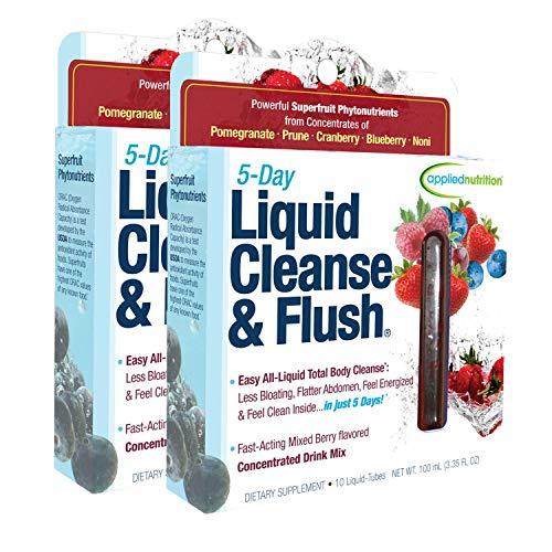 Applied Nutrition 5-Day Liquid Cleanse & Flush,10-Twist Tubes Box 3.3D fl oz Each (Pack of 2)