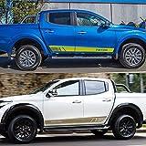 per Ford Ranger Raptor Pickup Carrozzeria Side Gonna Stripe Autoadesiva Sticker Car Decorativi Accessori Styling NTUOO Auto Laterale Decalcomanie Sportiva Adesivi