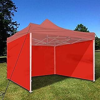 3 x 1,9 m tak tält sidovägg vattentät oxfordduk lusthus tält skydd presenning dragkedja sidovägg utomhus ersättningstält f...