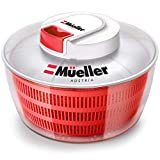 Mueller Salad Spinner with QuickChop Pull Chopper, Vegetable Washer with Bowl, Anti-Wobble Tech,...