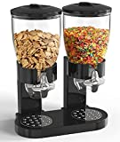 Dual Food Dispenser for Dry Food Dispenser Perfect As A Candy, Nuts, Granola, Cereal Dispenser & More. Dispenses 1 Ounce Per Twist! Stores Food, and Keeps Your Food fresh!