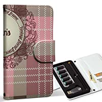 スマコレ ploom TECH プルームテック 専用 レザーケース 手帳型 タバコ ケース カバー 合皮 ケース カバー 収納 プルームケース デザイン 革 チェック・ボーダー ビンテージ チェック 模様 005171
