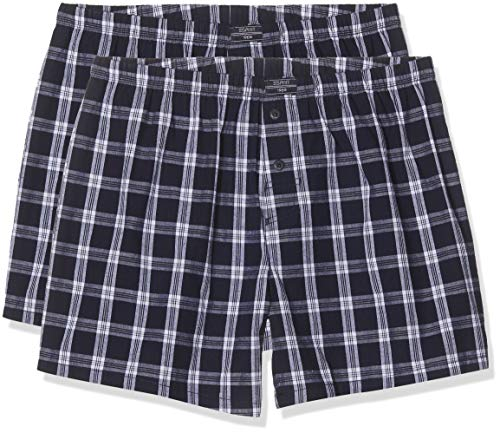 ESPRIT Herren Chicago 2shorts Boxershorts, 400/NAVY, XL (2er Pack)
