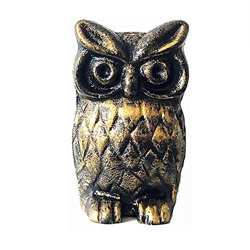 Garten Ornamente Europäischer Mini Jahrgang Gusseisen Owl Dekoration Kleines Metall Kreative Garten Ornamente Kunst Eisen-Skulptur for Yard Villa Pool Geschenk für Gartenliebhaber