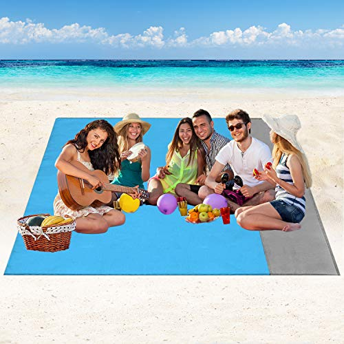 Coperta da Spiaggia Tappetino da Picnic - 210x200cm Portatile Anti Sabbia Impermeabile...