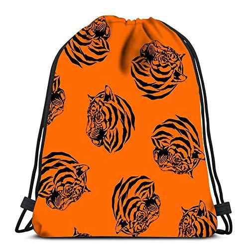 Hdadwy Drawstring Backpack Bags Tiger Folding Cinch Bag Bags