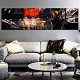 jongya Modern Elite Dangerous Video Game Poster HD Print Canvas Painting Wall Art Pictures for Living Room Decor Play Room Decor 40x140cm No Frame