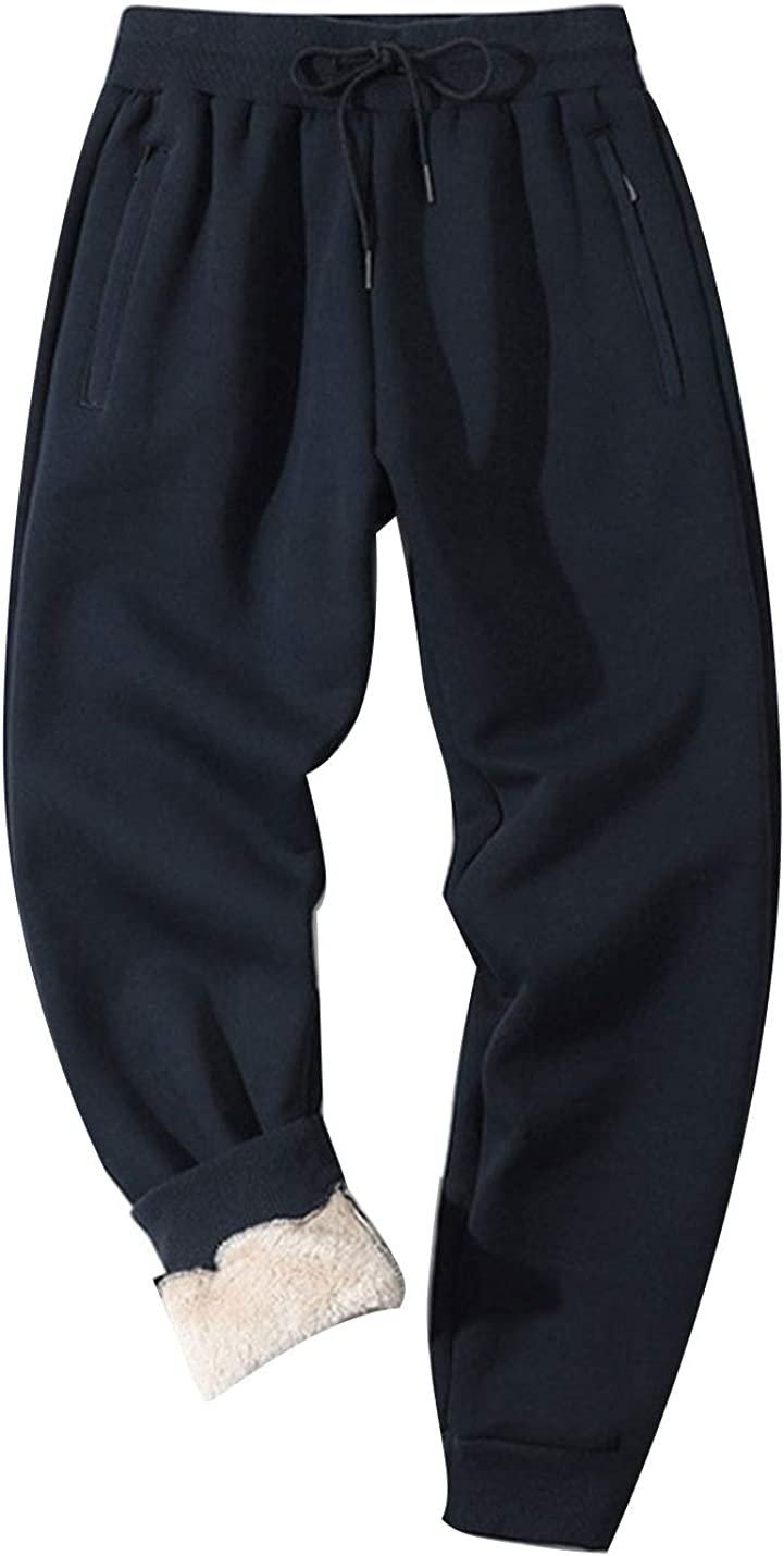 Omoone Men's Casual Drawstring Cheap mail Lowest price challenge order shopping Waist Lined Jogger Cuffed Fleece