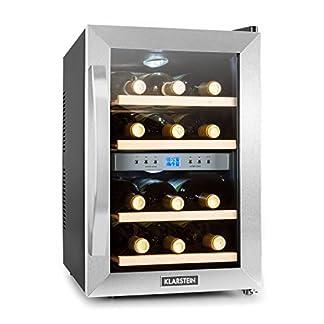 Klarstein-Reserva-Weinkuehlschrank-34-Liter-12-Flaschen-2-Zonen