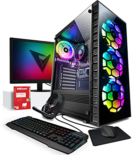 Vibox I-8 PC Gamer - Écran Pack - Quad Core Ryzen Processeur - Radeon Vega 8 Graphique - 16Go RAM - 240Go SSD - 1To Disque Dur - Windows 10 - WiFi