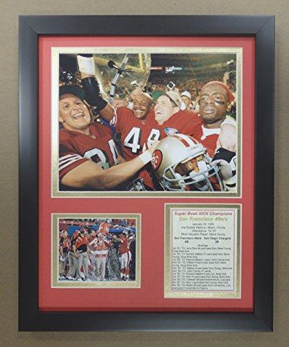 Joe Montana San Francisco 49ers NFL Double Matted 8x10 Photograph Legends Collage