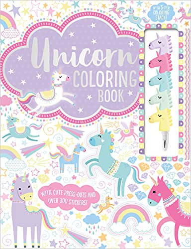 Unicorn Coloring Book (Coloring Book with Stacking Crayon)