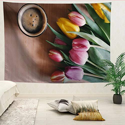 N/A Impresión 3D tapices Tapiz de Pared Grande de tulipán Tapiz de Pared Bohemio tapices de Pared Mandala decoración de Arte de Pared Regalo Elegante del Arte de la decoración del hogar