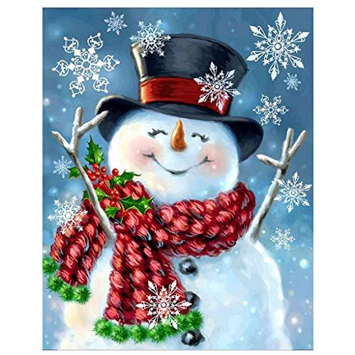 DIY Christmas Full Drill Rhinestone Diamond Painting Kits for Home Wall Decor, 12 X 16 Inch (Christmas Diamond Paintings)