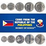 Set of 5 Coins from Philippines. 5, 25, SENTIMOS, 1, 5, 10 PISO. 2017-2019