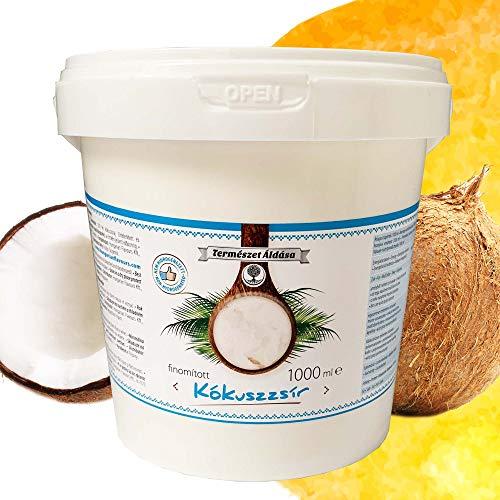 Coconut Oil | Kokosfett | Kokos öl | Kokosnussöl | Geschmacksneutral | Raffiniert und Desodoriert | Kokosöl für Haare und Haut | zum Kochen, Braten und Backen | Kokosöl für Hunde und Tiere | 1000ml