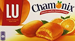 Soft cookies, lightly glazed and filled with a delectible orange puree. 4.7% Orange Puree Product of France