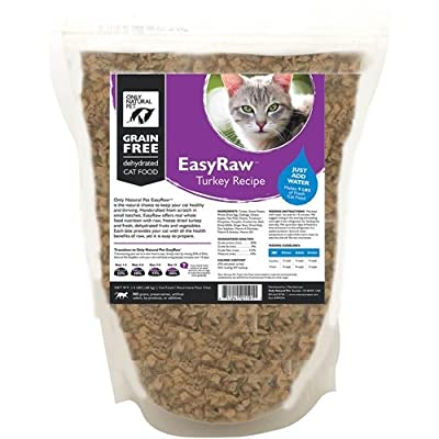 Only Natural Pet EasyRaw Dehydrated Cat Food Turkey 1.5 lb