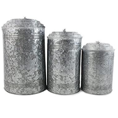 WellPackBox Farmhouse Rustic Collection For The Kitchen (Large 3 Canister Set)