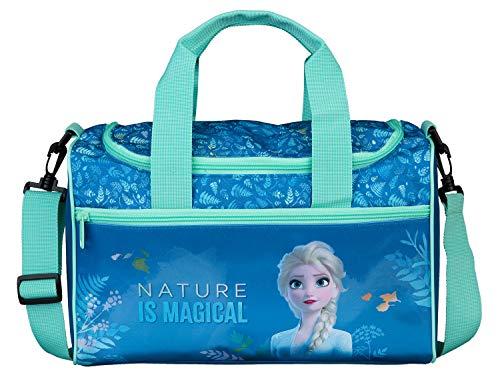 Scooli mit Hauptfach und Vortasche, Disney Frozen II, ca. 16 x 35 x 23 cm Fruw7252 Blau
