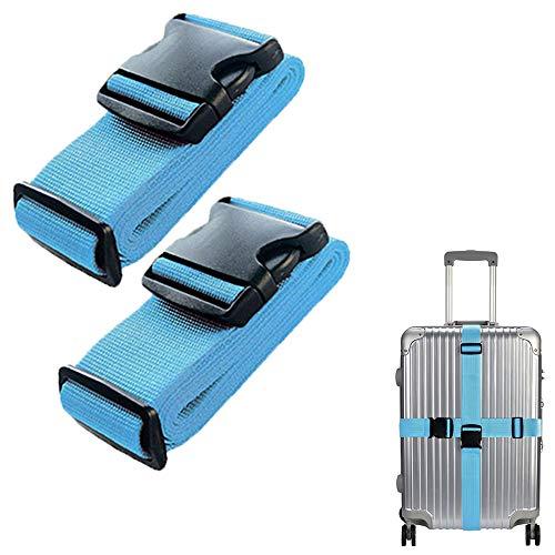 Lcgs 4 Correas para Equipaje, Resistente, Antideslizante, Ajustable, Accesorios de Viaje, Maleta, Cinturones de Equipaje
