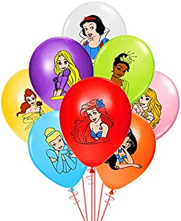 Merchant Medley 24 Count Princess-Inspired Birthday Party Balloons - Large 12 Inch Size - Latex - Includes 8 Styles