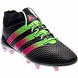 adidas ACE 16.1 PRIMEKNIT FG/AG Soccer Cleats (Sz. 13) Black, Solar Green, Shock Pink