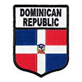 Dominican Republic Flag Shield Patch, Latin America Flag Patches